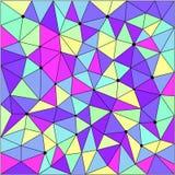 Polygonal modellräkning för abstrakt geometrisk triangel Royaltyfri Bild