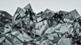 Polygonal modern glass shape 3D rendering with DOF. Polygonal modern glass shape. Abstract background. 3D rendering with depth of field Stock Image