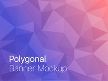 Polygonal Mosaic Background. Vector illustration, Creative Design Templates Royalty Free Stock Images