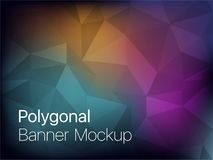 Polygonal Mosaic Background. Vector illustration, Creative Design Templates stock illustration