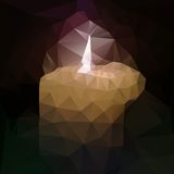 Polygonal mosaic of burning candle vector Stock Images