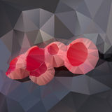 Polygonal mosaic of scarlet elfcup vector Royalty Free Stock Photography