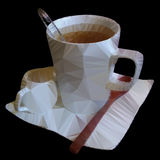 Polygonal mosaic of teacup vector illustration Stock Images