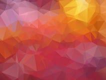 Polygonal mosaikbakgrund Stock Illustrationer