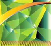 Polygonal mosaisk bakgrund för blå gräsplan, vektorillustration, idérika mallar för affärsdesign Arkivfoton
