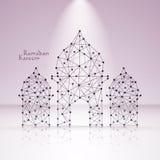 Polygonal moské för vektor Arkivfoton