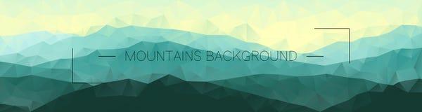 Polygonal mountains background Geometryczny abstrakta krajobraz Zdjęcia Royalty Free
