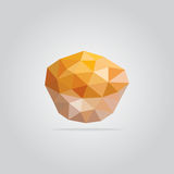 Polygonal muffin illustration Stock Image