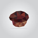 Polygonal muffin illustration royalty free stock images