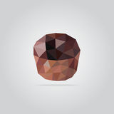 Polygonal muffin illustration stock photos