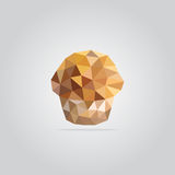 Polygonal muffin illustration stock photo