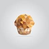 Polygonal muffinillustration arkivfoto