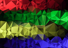Polygonal  multicolored triangle geometric abstract background. Creative Design Templates Royalty Free Stock Photography