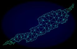 Polygonal Network Mesh Vector Abstract Map of Anguilla Island royalty free illustration
