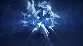 Polygonal network shape abstract 3D render Stock Photography