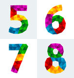 Polygonal number Royalty Free Stock Images