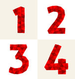 Polygonal number Royalty Free Stock Photography
