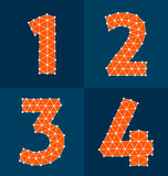 Polygonal number Royalty Free Stock Image