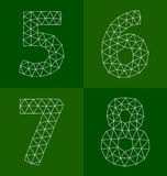 Polygonal number Royalty Free Stock Photos