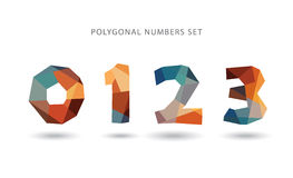 Polygonal numbers set. Vector art Royalty Free Stock Photography