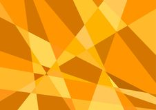 Polygonal orange bakgrundsvektor Royaltyfri Bild