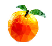 Polygonal Orange Fruit Illustration Royalty Free Stock Photo