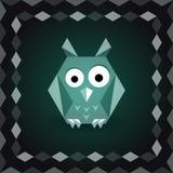 Polygonal origami owl Stock Photography