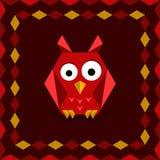 Polygonal origami owl Stock Image