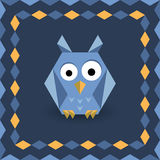 Polygonal origami owl Stock Images