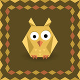 Polygonal origami owl Royalty Free Stock Image
