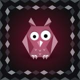 Polygonal origami owl Royalty Free Stock Photo