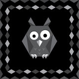 Polygonal origami owl Royalty Free Stock Images