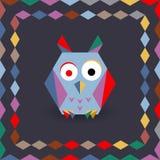 Polygonal origami owl Stock Photos