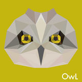 Polygonal owl background Royalty Free Stock Images