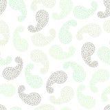 Polygonal paisley background. Seamless pattern. Stock Photos