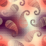 Polygonal paisley Stock Photos