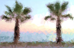 Polygonal palm Royalty Free Stock Images