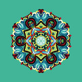 Polygonal pattern in oriental style with lots of colored element Stock Photo