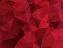 Polygonal pattern in red Royalty Free Stock Photos