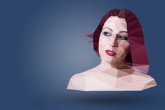 Polygonal portrait Stock Image