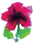 Polygonal Purple Flower Stock Photos