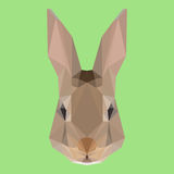 Polygonal rabbit background Stock Photography