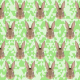 Polygonal rabbit pattern background Stock Photos