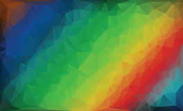 Polygonal rainbow background. royalty free stock image