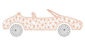 Polygonal ramvektor Mesh Illustration för Cabriolet vektor illustrationer