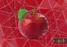 Polygonal red apple with background Royalty Free Stock Photography