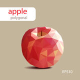 Polygonal red apple on light background. Vector picture Stock Photo