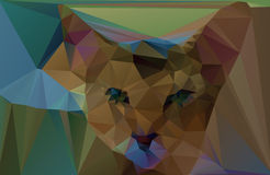 Polygonal red cat. Vector illustration Stock Photography