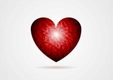 Polygonal red heart shape Royalty Free Stock Photo