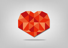 Polygonal red heart Royalty Free Stock Photos